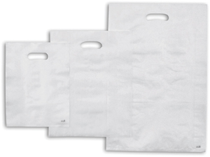 Frosted Merchandise Bags Clear